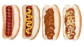 Accumulazione degli hot dog Immagini Stock