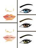 Accumulazione degli occhi e delle bocche Fotografia Stock Libera da Diritti