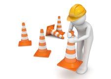 Accumulazione degli operai - luogo in costruzione Fotografia Stock