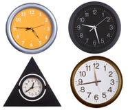 Accumulazione degli orologi di parete 1 Fotografia Stock