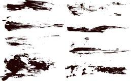 Accumulazione degli splatters della vernice di vettore Fotografie Stock Libere da Diritti