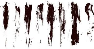 Accumulazione degli splatters della vernice di vettore Fotografia Stock Libera da Diritti