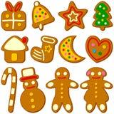 Accumulazione dei biscotti di natale illustrazione vettoriale