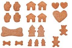 Accumulazione dei biscotti a forma di Fotografia Stock