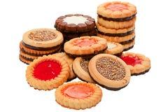 Accumulazione dei biscotti rotondi Fotografie Stock
