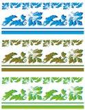 Accumulazione dei bordi della pianta Immagini Stock