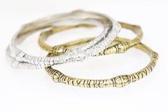 Accumulazione dei braccialetti Fotografie Stock