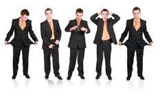 Accumulazione dei businessmans in vario stato. Fotografie Stock