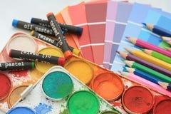 Accumulazione dei campioni di colore Fotografia Stock