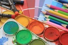 Accumulazione dei campioni di colore Fotografie Stock
