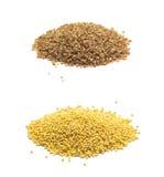 Accumulazione dei cereali isolati su bianco Immagini Stock Libere da Diritti