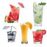 Accumulazione dei cocktail di frutta Immagine Stock