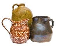 Accumulazione dei contenitori antichi dell'argilla Immagini Stock