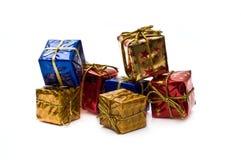 Accumulazione dei contenitori di regalo Fotografie Stock Libere da Diritti