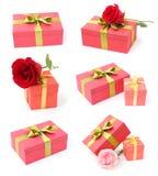 Accumulazione dei contenitori di regalo Fotografia Stock