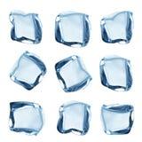 Accumulazione dei cubi di ghiaccio Fotografie Stock Libere da Diritti
