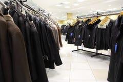 Accumulazione dei cuoi nella memoria di vestiti. Fotografia Stock