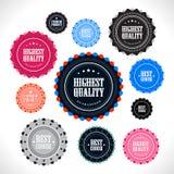 Accumulazione dei distintivi di qualità di premio Immagine Stock Libera da Diritti