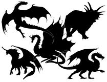 Accumulazione dei draghi -   Immagini Stock