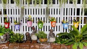 Accumulazione dei flowerpots Immagine Stock