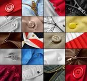 Accumulazione dei frammenti dei vestiti Fotografie Stock