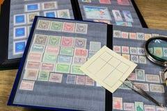 Accumulazione dei francobolli Fotografia Stock Libera da Diritti