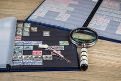 Accumulazione dei francobolli Fotografie Stock Libere da Diritti