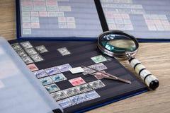 Accumulazione dei francobolli Fotografia Stock