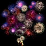 Accumulazione dei fuochi d'artificio Fotografia Stock Libera da Diritti