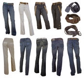 Accumulazione dei jeans Immagini Stock