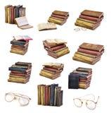 Accumulazione dei libri dell'oggetto d'antiquariato dell'annata Fotografia Stock