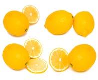 Accumulazione dei limoni freschi Fotografia Stock