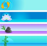 Accumulazione dei modelli di vettore di zen con il marchio Fotografie Stock Libere da Diritti