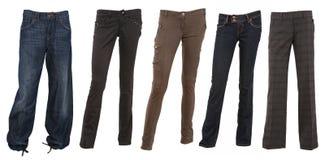 Accumulazione dei pantaloni femminili Immagine Stock