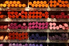 Accumulazione dei pastelli variopinti Fotografia Stock Libera da Diritti