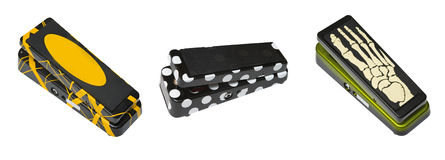 Accumulazione dei pedali della chitarra Immagine Stock