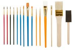 Accumulazione dei pennelli Fotografia Stock