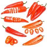 Accumulazione dei pepe rossi Immagine Stock
