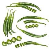 Accumulazione dei peperoni verdi Immagini Stock Libere da Diritti