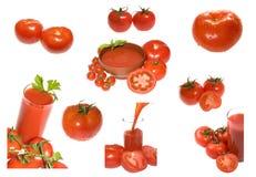 Accumulazione dei pomodori Fotografia Stock