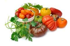 Accumulazione dei pomodori Immagine Stock