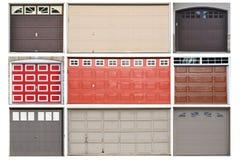 Accumulazione dei portelli del garage Immagine Stock