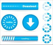 Accumulazione dei preloaders moderni immagini stock