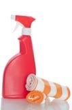 Accumulazione dei pulitori dell'igiene per lavori domestici Immagine Stock Libera da Diritti