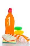 Accumulazione dei pulitori dell'igiene per lavori domestici Fotografia Stock Libera da Diritti