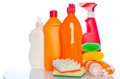 Accumulazione dei pulitori dell'igiene per lavori domestici Immagine Stock