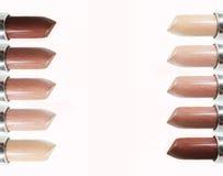 Accumulazione dei rossetti marroni Immagine Stock Libera da Diritti