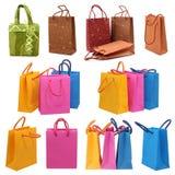 Accumulazione dei sacchetti di acquisto Fotografia Stock