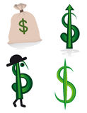 Accumulazione dei segni del dollaro Fotografia Stock Libera da Diritti