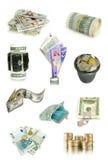 Accumulazione dei soldi Fotografie Stock